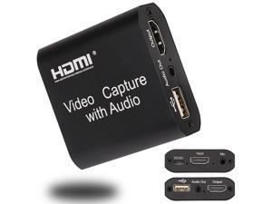 Video Audio Capture Card HDMI to USB 2.0 1080p Record with Loop Out for Gaming Streaming Teaching Video Conference and Live Broadcasting