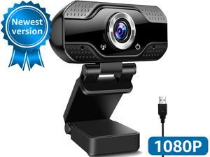 1080P Full HD Webcam, Streaming Web Camera with Microphones, Webcam for Gaming Conferencing & Working, Laptop or Desktop PC, USB Computer Camera for Mac Xbox YouTube Skype etc