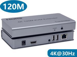 HDMI KVM USB Extender Over CAT6 Cable Up to 120m (393 feet) Support HDMI 1.4 4K@30Hz HDCP 1.4 and IR Control