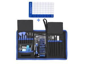 CUUWE 80-in-1 tool kit for mobile phone and PC computer tool kit with ESD belt Phillips screwdriverscrew magnetic pad Multi-function repair and disassembly tool