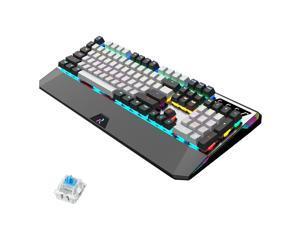 CUUWE RK956 Retro RGB Mechanical Keyboard 104 Keys Anti-Ghosting - PBT Multi-color keycaps - Customizable RGB Backlit - Programmable Macro Function RGB Mechanical switch