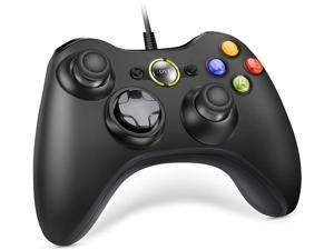 CUUWE Controller Replacement for Xbox 360 Controller, Wired Controller with Upgraded Joystick Compatible with Microsoft Xbox 360 & Slim/PC Windows 10/8/7