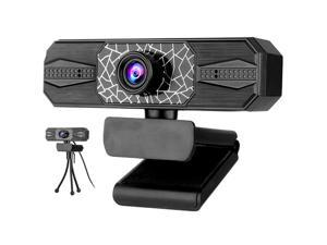 CUUWE 2K Webcam  with Ring Light Microphone, Advanced Auto-Focus, , Web Camera for Windows Mac OS, Plug and Play, for Zoom, YouTube, Skype, Video Call, Conference