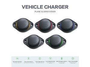 3.1A 12-24V Slide Lid Car Bus Boat Dual USB Port Charger Power Socket Outlet