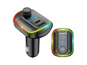 PD 18W Bluetooth 5.0 Car MP3 Player FM Transmitter Fast Charging Phone Charger