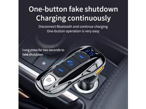 BC55 Multifunctional Car Fast Charger Bluetooth MP3 Music Player FM Transmitter