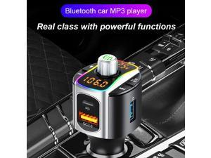 BC67 FM Transmitter Bluetooth 5.0 Multifunctional PD QC3.0 Colorful Light Car Charger for Vehicle