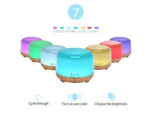 450ml 7 Color Ultrasonic Aromatherapy Aroma Essential Oil Diffuser Air Humidifier