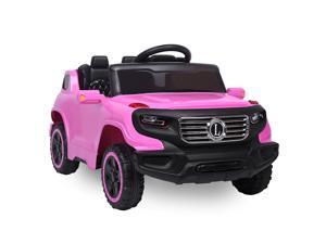Kids Ride On Car 6V Battery Powered 3 Speed Music Light w/RC