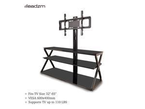"""3-in-1 Floor TV Stand Swivel Mount Shelf for 32 37 40 42 46 47 50 55 60 65"""" TVs"""