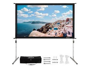"""100"""" Fast Fold HD Projector Screen Garden Movie Projection with Stand Carry Bag"""