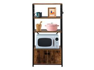 3 Tier Kitchen Storage Shelf Baker's Rack Microwave Oven Stand Shelf Kitchen US