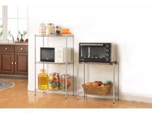 Silver 5-Tier Layer Shelf Adjustable Wire Metal Shelving Rack Heavy Duty Garage