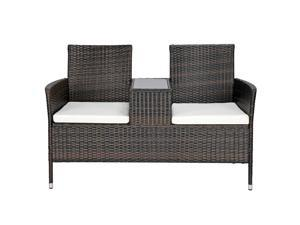 2 Seats S Style Patio Chaise Lounge Chaise Lounge Chair