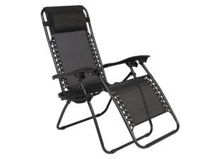 2 Piece Folding Zero Gravity Reclining Lounge Chairs