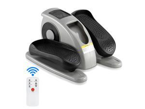 Elliptical Machine Leg Trainer ABS   Iron American Plug Electric Model With Remote Control Black & Gray