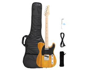 """New Yellow GTL Maple Fingerboard 39"""" 6 Strings Electric Guitar with Bag"""