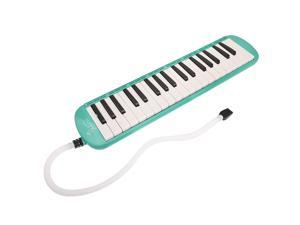 Glarry 37-Key Melodica with Mouthpiece & Hose & Bag Green