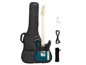 """New Blue GTL Maple Fingerboard 39"""" 6 Strings Electric Guitar with Bag"""