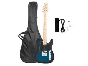 "Glarry GTL Maple Fingerboard 39"" Electric Guitar Gigbag Right Handed Dark Blue"