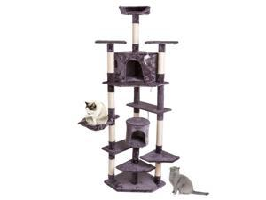 """80"""" Scratching Post Cat Tree House Condo Tower Playing Climbing Furniture Pet"""