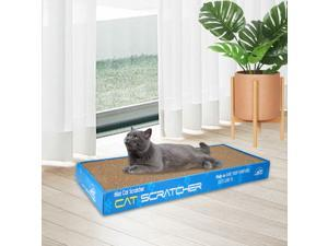 Corrugated Cardboard Cat Scratching Bed Pad Scratcher Toy with Catnip 5 Style