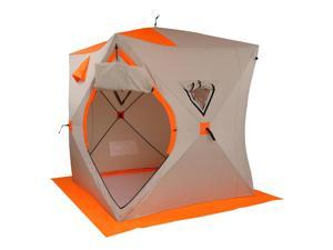 Portable Pop-up Ice Fishing Shelter Tent, for 3-4 Person