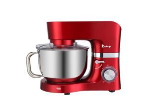 6-Speed Stand Mixer, 5.8Qt 304 Stainless Steel Mixing bowl, Red