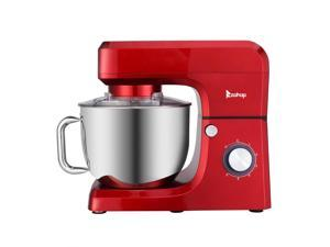 7.5QT 6 Speed Control Electric Stand Mixer with Stainless Steel Mixing Bowl, Red