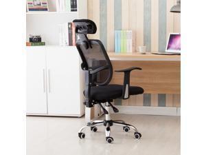 Adjustable Mesh High Back Office Chair Computer Desk Seat w/ Headrest Black
