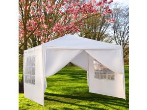 Patio 10' x 10' White Party Tent Wedding Gazebo Canopy Pavilion Event Outdoor