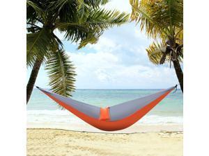 Camping Hammock Outdoor Parachute Double Tent Lightweight Travel Orange & Gray