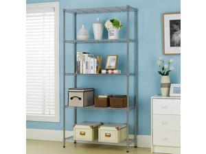 5 Layer Wire Metal Unit Commercial High Quality Storage Shelf Shelving Rack