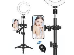 "6"" Selfie Desktop LED Ring Light with Stand Phone Holder for Live vedio Makeup"