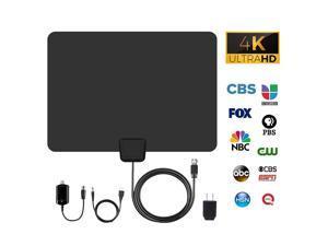 100Miles 1080P 4K HD Digital Signal Indoor TV Antenna HDTV with Amplifier VHF UHF