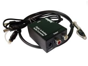 EDTREE Digital Optical Coaxial Toslink to Analog RCA L/R Audio Converter