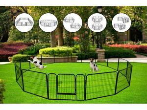 High Quality Portable outdoor folding 16-panel heavy duty metal pet playpen