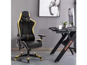 Gaming Chair, UHOMEPRO PU Leather High Back Computer Chair Office Chair, Home Desk Chair, PC Racing Chair, Executive Ergonomic Adjustable Task Chair with Headrest and Lumbar Support