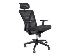 Reclining Office Chair, UHOMEPRO Ergonomic Computer Mesh Recliner, Adjustable Office Desk Chair, Task Chair with Hidden Footrest and Lumbar Support, 300 LB Capacity, Suitable for Home and Company