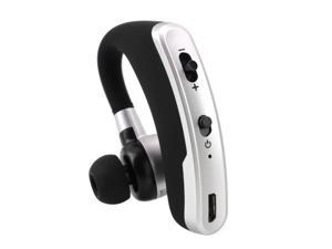 Bluetooth Earpiece, UHOMEPRO New Wireless Handsfree Headset, 240 Hours Standby Time, 6 Hours Talking Time,  Noise Cancelling Mic Headset for iPhone, Android, Samsung, Laptop, Trucker Driver, Black