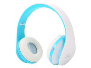 Wireless Headset, UHOMEPRO Bluetooth Headset with Mic, Dial Via Voice, Wired Stereo Headphones, Headphones for Music, Sports, Answer or Reject Phone Calls for Wearing  (Blue & White)