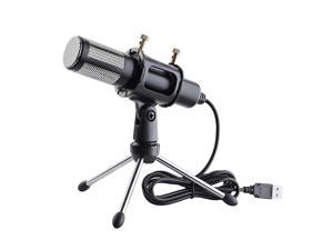 Condenser USB Microphone w/ Tripod Stand Game Chat Recording