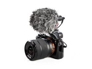 Universal Video Microphone with Shock Mount, Deadcat Windscreen, Case for iPhone, Android Smartphones, Canon EOS, Nikon DSLR Cameras and Camcorders