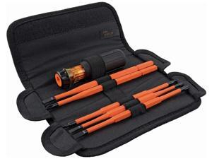 32288 Insulated Screwdriver, 8-in-1 Screwdriver Set with Interchangeable Blades, 3 Phillips, 3 Slotted and 2 Square Tips