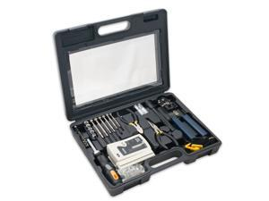 50 Pieces Network Tool Repair Kit, Ethernet LAN Cable Tester Computer Maintenance Coax Crimper Tool for RJ-45/11/12 Cat5/5e with Connector Accessories and Socket Set