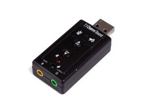 Virtual 7.1 Channel USB External Sound Card Audio Adapter with Headphone Output and Microphone Input