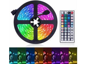 LED Light Strip, 16.4ft RGB LED Light Strip 5050 LED Tape Lights, Color Changing LED Rope Lights with Remote for Home