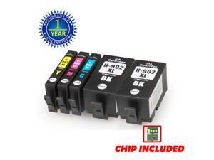 5 Pack 902XL 902 Ink Cartridge for HP Officejet Pro 6960 6968 6970 6975 6978 XL 6950 6954 6960 6968 6970 6974 Brand-New Chip