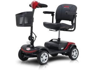 Metro Mobility Compact Mobility Scooters for Adults - 265 lbs Max Weight - 18 in Width Seat - Electric Powered - 4 Wheel - Red