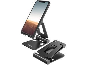 """Cell Phone Stand, Fully Foldable, Adjustable Desktop Phone Holder Cradle Dock Compatible with Phone 11 Pro Xs Xs Max Xr X 8, iPad Mini, Nintendo Switch, Tablets (7-10""""), All Phones"""